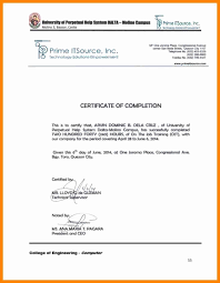 Ojt Certificate Of Completion Template New Certification Pletion