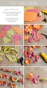 Paper Flower Garlands How To Make A Paper Flower Garland Tutorial With Free