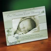 our precious irish blessing photo frame wood frame