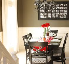 Dining Room Centerpieces Example Of A Country Dining Room Design In Richmond With Green
