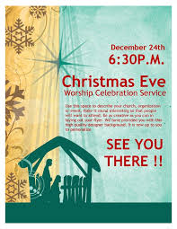 Christmas Eve Service Church Flyer Template | Flyer Templates