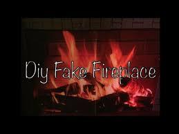 diy fake fireplace