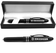 engineer engraved pen light w stylus tip gifts ideas for engineers engineering