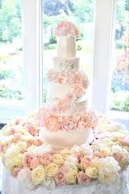 Luxury Blush Pink And White Wedding Flowers And Cake At Hunton Park