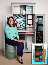 home office armoire. Home Office Armoire Makeover \u2013 Cute DIY Project