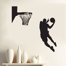 recent acting cool wall decal nba slam dunk basketball mural pertaining to