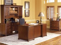 attractive wooden office desk. Furniture, Amazing Wooden Office Desk Design: The Application Of Attractive Furniture For E