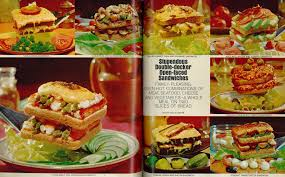 Recipe Page Layout 1968 Food Presentation Stupendous Sandwiches 2 Page Layout