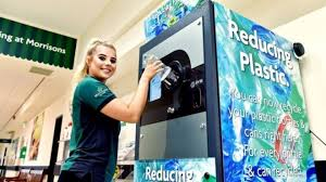 Plastic Bottle Recycling Vending Machine Simple Morrisons Trials Plastic Bottle Return Vending Machines BBC News