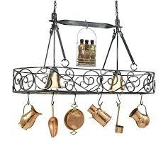 chandeliers pot rack chandelier authentic iron lighted hanging eldridge pot rack chandelier