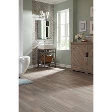 stainmaster 6 in x 24 in groutable cau light gray l bathroom flooringentryway