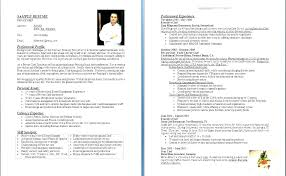 Sous Chef Resume Template Impressive Cook Resume Sample Free Executive Chef Private Lovely Fullofhell