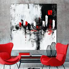 red and grey wall art large urban abstract painting black and white modern painting wall art canvas art painting red and gold canvas wall art