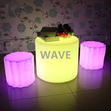 led outdoor furniture event light up bar table