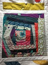 Free Motion Quilting Designs For Log Cabin Wonky Log Cabin Spiral Free Motion Quilting Quilts Made By