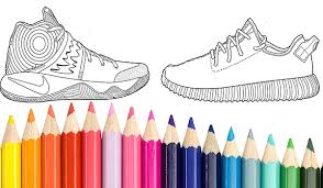 create your own colorways with this sneakerhead coloring book yeezy shoe drawing