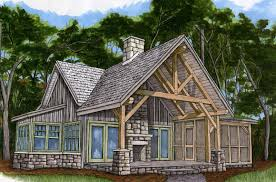 piney creek cottage timber frame hq for 2 bedroom timber frame house plans