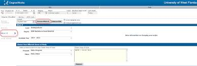 viewing a degree audit uwf public knowledge base uwf confluence after you make your selection click on process what if to see what your new audit would be the what if audit not include exceptions which be
