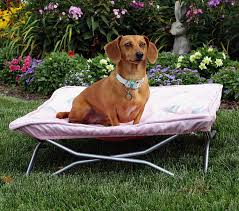 portable pup outdoor dog bed  dog  puppy supplies