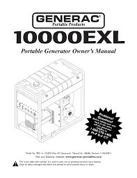 Generac Owners Manual 09801 Manualzz Com