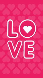 Love Pink Heart Wallpaper