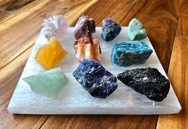 Crystals Slab Moon New Healing - Plate Beginnings Selenite