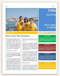 Microsoft Word Newsletter Newsletter Templates For Microsoft Word 3 Microsoft Word Newsletter
