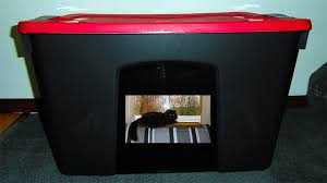 diy cat litter box easily made from a tote storage inspirations homemade house for outside gallery