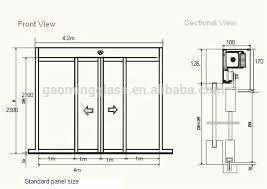 sliding glass doors drawing. Unique Doors Sliding Glass Door Measurements Inside Doors Drawing C