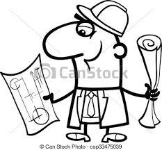 engineer cartoon coloring book csp33475039