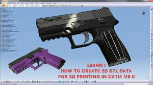 How to Create STL Data <b>for</b> 3D Printers Using Catia <b>V5</b> - YouTube