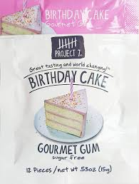 Amazoncom Birthday Cake Gourmet Gum Pack Of 6 Sugar Free