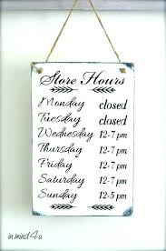 Holiday Hours Sign Template Free