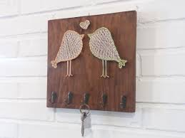 Bird Coat Rack Bird string art key organizer Wood wall Coat Rack Wall 87