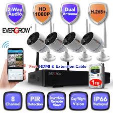 <b>2020 H265+</b> 8CH Long Range IP 1080P CCTV <b>Wireless</b> NVR ...