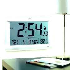 atomic outdoor wall clock large atomic wall clocks large digital atomic wall clocks la crosse technology atomic outdoor