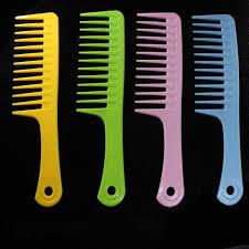 Random Color!! 1PC Salon Hairdressing Anti static Handle <b>Wide</b> ...