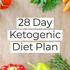 free 28 day keto low carb meal plan