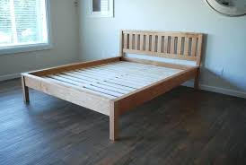 simple bed frame image 0 simple wood bed frame with headboard