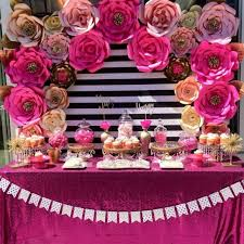 Pink Paper Flower Decorations 10 Gorgeous Paper Flower Backdrops Catch My Party