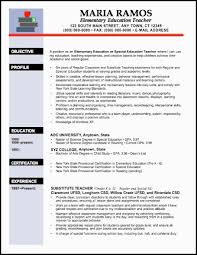 resume sample for an elementary education teacher new teacher resume template
