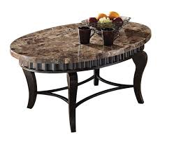 marble top coffee table oval