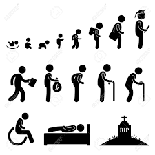 Жизнь человека Малыш малыш ребенок студент дипломную работу на  Жизнь человека Малыш малыш ребенок студент дипломную работу на пенсию старик умер Смерть Фото со стока