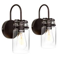 best choice s set of 2 industrial metal hardwire wall light lamp sconces w clear