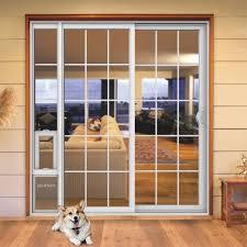 how to install a sliding glass pet door