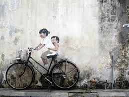 children in a boat by ernest zacharevic where to find street art in georgetown  on famous wall art in penang with where to find the street art in georgetown penang map