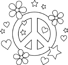 Small Picture Coloring Pages Hearts Peacepng 600577 coloring pages