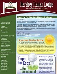 News Letters Newsletters Hershey Italian Lodge
