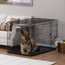 Precision Pet Products ProValu Double Door Dog Crate with Free Fleece Crate  Mat   Hayneedle
