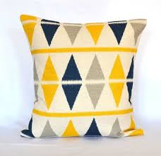 Blue And Yellow Decorative Pillows